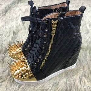 Jeffrey Campbell Caster Spike Quilted Sneakers 8